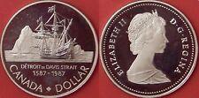 Proof 1987 Canada John Davis Silver 1 Dollar From Mint's Set