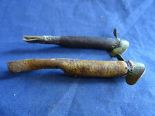 A PAIR OF VINTAGE EEL TAIL LURES STAMPED WITH PATENT NUMBERS (MUNRO)