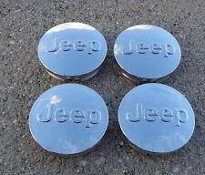 "Jeep Chrome 4 Set 2.5"" 2-1/2"" 64mm wheel rim center cap Cherokee Renegade"