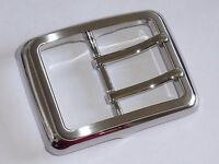 Gürtelschnalle Klemmschnalle für Wechselgürtel 3,5 cm silber NEU rostfrei 0194.1