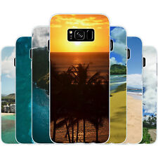 Dessana Hawaii Beach Silicone Protective Cover Phone Case for Samsung Galaxy