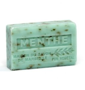 Shea Butter French soap with Crushed Mint Leaves