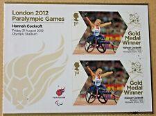 ERROR -London 2012 Paralympic Stamps -gold medal winners - SPLATTER  INK ERROR