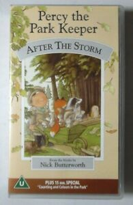 PERCY THE PARK KEEPER - AFTER THE STORM VIDEO VHS NICK BUTTERWORTH 1997 40 MINS