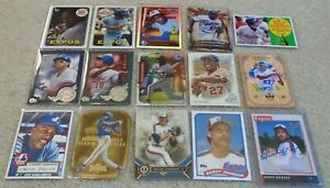 Montreal Expos:15 card lot (inserts, rookies,prospect, parallels,1 on-card auto)