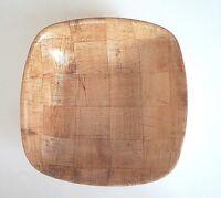 """Genware Square Bowl Woven Wood 10"""" Diameter Rustic"""