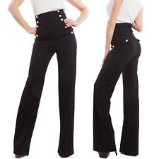 Pantaloni donna campana vita alta zampa elefante elasticizzati hot nuovi AS-531