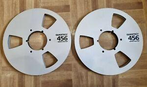 "2 x 10.5"" Metal Quantegy 456 1/2"" Tape Spool for reel to reel"