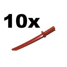 NEW LEGO - Weapon - sword - Katana / Shamshir Red x 10 Ninja Ninjago
