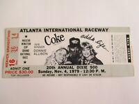 Vintage ATLANTA 1979 DIXIE 500 NASCAR Ticket Stub NEIL BONNETT Winner Auto Race