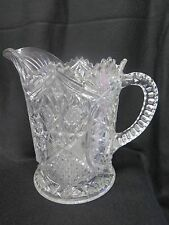 "VINTAGE / ANTIQUE EAPG IMPERIAL? GLASS 8"" PITCHER 4 MOLD"