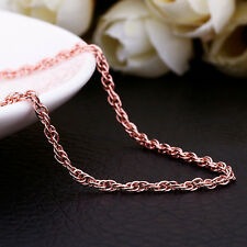 "Fashion Jewellery! 18K Rose Gold GP 1.5MM 26"" Wrested Rope Chains Necklace C030"
