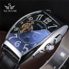 Fashion SEWOR Brand Automatic Mechanical Self-Wind Wrist Watch Men Luxury Brand
