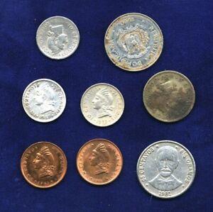 1937-1990 DOMINICAN REPUBLIC COINS, 10 CENTAVOS: 1937, 1973, 5 CENTAVOS 1956,