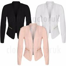 Zip Polyester Formal Coats & Jackets Blazer for Women