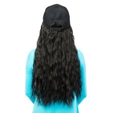 HOT Baseball Cap Hat Long Wavy Hair Fake Wigs Adjustable Black 4 Color for Women