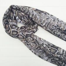 Snakeskin - Black Scarf. Classic Animal print wrap, sarong, Scarves.