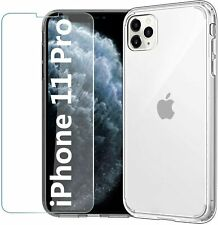 EasyAcc Clear Phone Case For iPhone 11 Pro 5.8'' + Full Glass Screen Protector