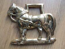 Vintage Heavy Sussex Horse Cart horse Brass