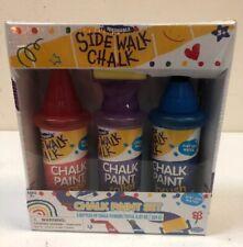 Sidewalk Chalk Paint Set - PEN BRUSH ROLLER Washable
