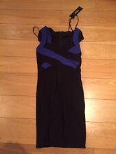 BNWT Morgan Black/Blue `Ripsy` Dress - Size TXS (UK 6 to 8)- RRP £55.00