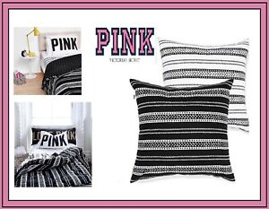 NWT Victoria's Secret Pink Collection BODY PILLOW Dorm Room BLACK WHITE STRIPED