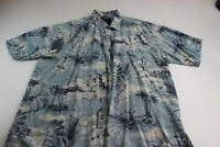 Harley Davidson Rayon Made Hawaii Island CAMP SHIRT Large Short LENGTH IS 29