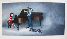 LYNN POLAND Hand Signed Limited Edition Giclee PIANO RAG TRUMPET