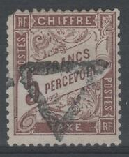 "FRANCE STAMP TIMBRE TAXE N° 27 "" TYPE DUVAL 5F MARRON "" OBLITERE A VOIR N660"