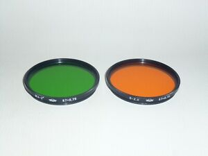 Set of 2 filters Yellow-Green2x and Orange2.8x  M67x0.75 Made in USSR
