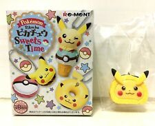 Pokemon Pikachu Sweets Time CAKE ROLL Toy Keychain with Candy by RE-MENT Japan