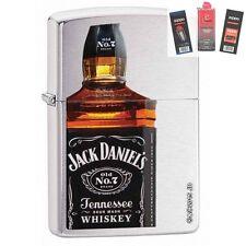 Zippo 28842 jack daniels bottle Lighter + FUEL FLINT & WICK GIFT SET