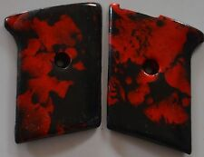 Phoenix Arms Raven 25 ACP pistol grips red/black swirl slide safety only plastic