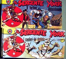 SERGENTE YORK I e II serie complete in anastatica - Audace