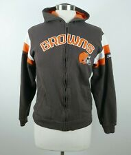 NFL Cleveland Browns Boys Girls LS Full Zip Hoodie Sweatshirt Reebok Youth Large