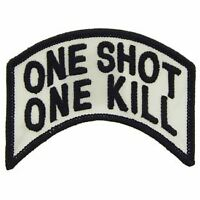SNIPER ARMY MARINE CORPS ONE SHOT ONE KILL EMBROIDERED MILITARY PATCH
