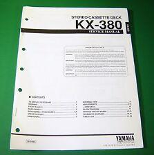Original Yamaha KX-380 Service Manual