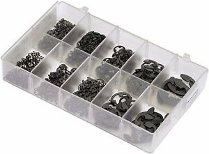 A04240 MINI BOX ASSORTMENT 'E' RETAINERS FROM 1-5MM TO 15MM QTY 620