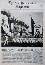 11-1935 November 17 HAILE SELASSIE LENNIN STALIN RUSSIA BYZANTIUM IRELAND Times