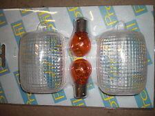 CABOCHONS DE CLIGNOTANTS + 2 AMPOULES ORANGES ADAPTABLE HONDA CBR 600 99/03