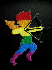 RAINBOW GAY PRIDE CUPID ICON OF LOVE Embroidered Iron on Patch Free Shipping