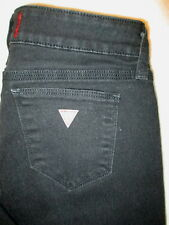 GUESS Adrianna Low Skinny Boot Stretch Womens Black Jeans Size 27 x 33 mint