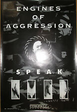 """Engines Of Aggression """"Speak"""", Priority promotional poster, 1993, 24x36, Ex!"""