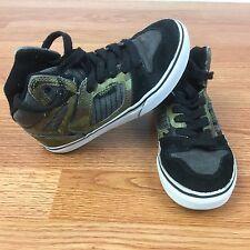 VANS Hi Tops Skate Shoes Toddler Boys Size 13 GUC Camo Print Sneakers