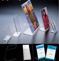 Acrylic Poster Menu Holder Perspex Leaflet Display Stands A3 A4 A5 A6 Ddeg@Bra