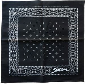"Suicidal Tendencies Logo Black Bandana 21"" x 21"" (mask)"