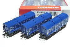 Fleischmann N NS 3x 4achs. Coilwagen blau 838825 NEU OVP
