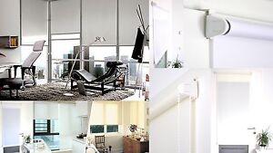 Lichtdurchlässig Tagslichtrollo Klemmträger easy fix Ketten Seiten Seilzug Rollo