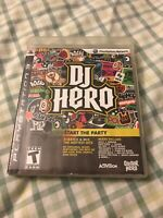 DJ Hero (Sony PlayStation 3, 2009)Working Game, Case And Booklet Only