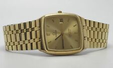 OMEGA MENS SEAMASTER ALL GOLD STAINLESS STEEL WATCH
